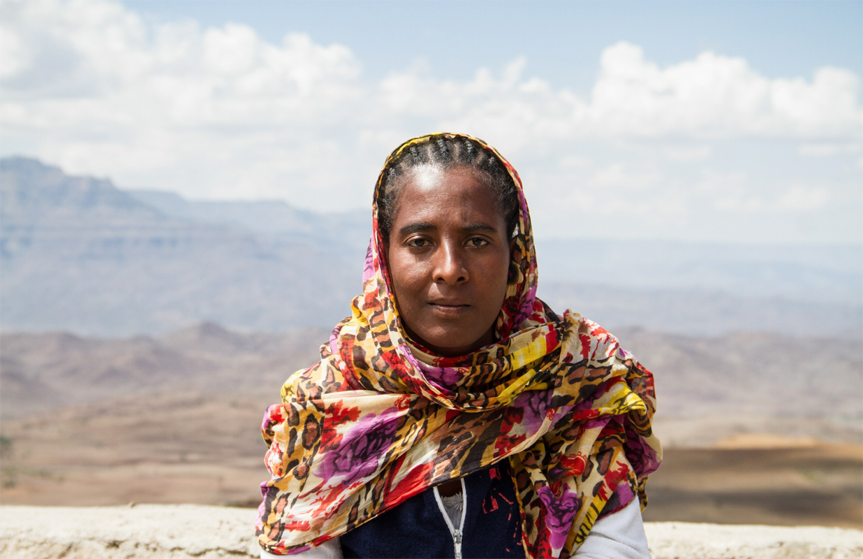 Lalibela, Ethiopia - Woman portrait. Photo by Adam Porter