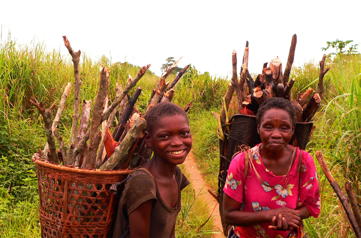 Basankusu collecting firewood, Democratic Republic of Congo