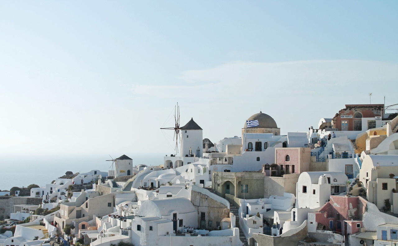 The Greek island of Santorini, southern Aegean Sea