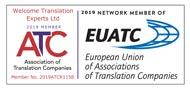 Member of the Association of Translation Companies (ATC)